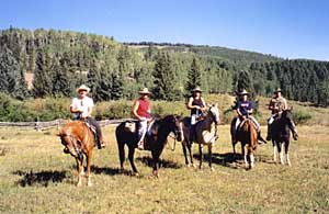 horseback in the La Sal mountains