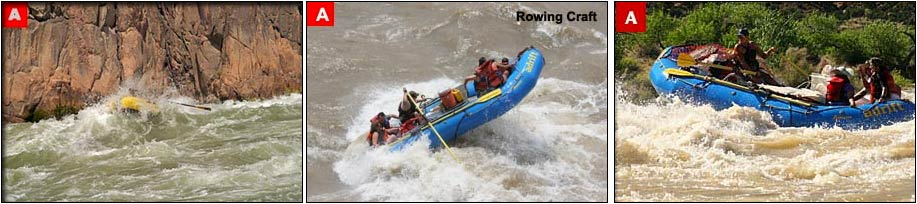 Rowing rafts on Cataract Canyon